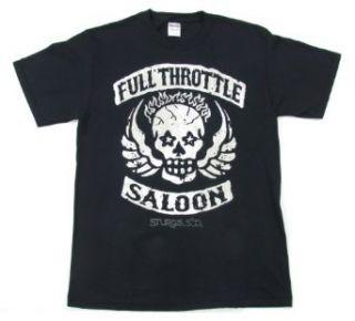 Changes Full Throttle Saloon Men's Black Skull T Shirt Clothing