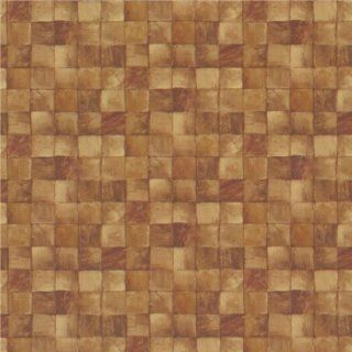 Dollhouse Miniature Small Brown Tiles Wallpaper: Toys & Games