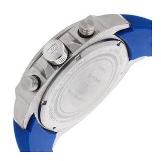 "Swiss Legend Men's ""Sprinter"" Stainless Steel and Blue Silicone Blue Dial Watch Watches"