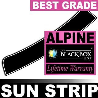 Mercedes E300 98 1998 Precut Sun Strip   Super High Heat Rejection Black Box Alpine   SS5: Automotive