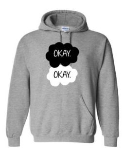 Small Oxford Adult Okay. Okay. Sweatshirt Hoodie: Novelty Athletic Sweatshirts: Clothing
