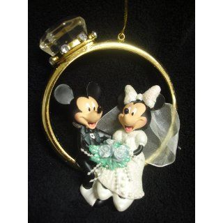 Disney Mickey & Minnie Wedding Ring Ornament   Decorative Hanging Ornaments