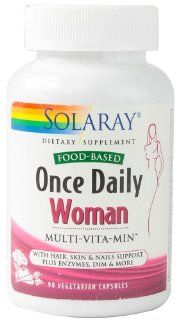 Once Daily Woman Solaray 90 VCaps: Health & Personal Care