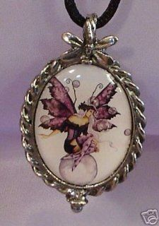 Amy Brown Counting Wishes Fairy Cameo Pewter Necklace  Other Products