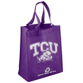 NCAA TCU Horned Frogs Purple Reusable Tote Bag : Sports Fan Totebags : Clothing