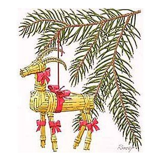 Ramsey: Straw Goat Christmas Ornament : Other Products : Everything Else