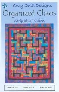 Cozy Quilt Organized Chaos Jelly Roll Quilt Pattern   Other Sewing Products