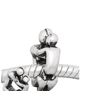 "One (1)"" Loving father and Son Charm "" Bead Fits Pandora Troll Chamilia Kay's Zable and Many Others: Jewelry"