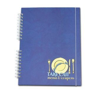 Take Out Menu Organizer Book   Navy Blue
