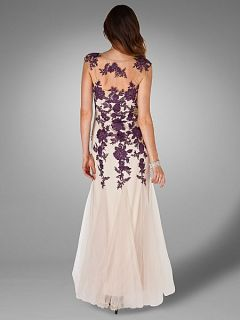 Phase Eight Rita tulle full length dress Nude