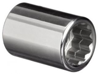"""Martin B1214 7/16"""" Type II Opening 3/8"""" Square Drive Socket, 12 Points Standard, 1 1/8"""" Overall Length, Chrome Finish Socket Wrenches Industrial & Scientific"""