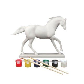 Trail of Painted Ponies Paint Your Own Horse Running Pose Figurine 6 1/2 Inch   Collectible Figurines