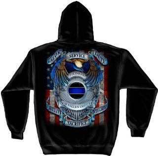 Hooded Sweat Shirt Honor our fallen officers: Automotive