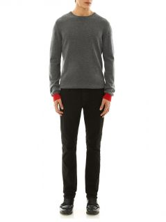 Contrast crew neck cashmere sweater  Chinti and Parker  MATC