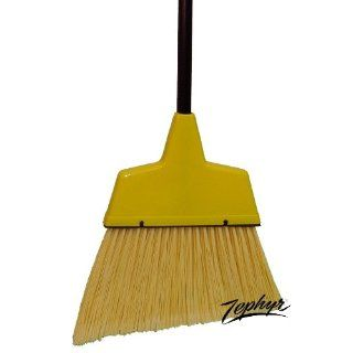 """Zephyr 9077 Large Angle Broom with Plastic Handle, 13"""" Head Width, 54"""" Overall Length, Yellow (Case of 12) Industrial & Scientific"""