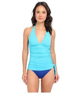 Lauren Ralph Lauren Laguna Solids Flyaway Strapless Swimsuit Bright Indigo