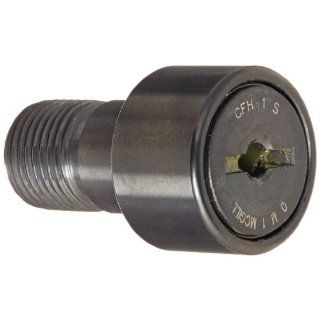 "McGill CFH1S Cam Follower, Heavy Stud, Sealed/Slotted, Inch, Steel, 1"" Roller Diameter, 5/8"" Roller Width, 1"" Stud Length, 5/8"" Thread Size, 1 21/32"" Overall Length, 5/8"" Stud Diameter: Cam Follower Bearings: Industrial &"