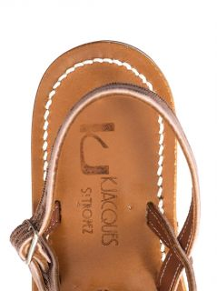 Homere metallic leather sandals  K. Jacques