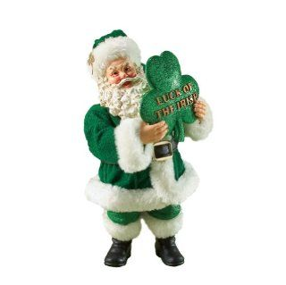 Department 56 Possible Dreams Clothtique Luck of the Irish Celtic Santa Figurine   Holiday Figurines