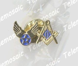 NEW GIFT:US U.S. USA U.S.A AIR FORCE MILITARY AF USAF AIRFORCE MASONIC LAPEL PIN! MASON MASONIC LAPEL PIN TIE TACK, NEW, Masonic Logo Mason, Freemason Freemasons Free Mason Masons Masonic Masonry Freemasonry Past Masters' Emblem Shriner, york Scottish