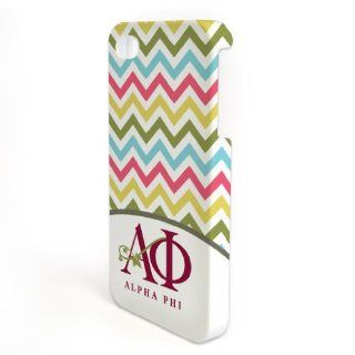 Alpha Phi iPhone 4/4s WrapAround Slim Case   Chevron Stripes: Cell Phones & Accessories