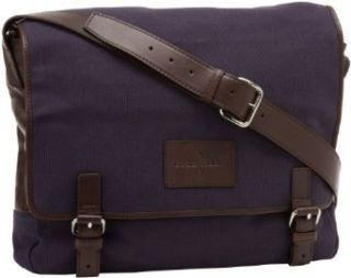 Cole Haan Messenger Bag,Navy Canvas/Dark Brown,One Size Clothing