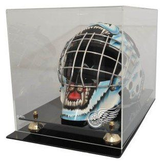 Detroit Red Wings Goalie Mask Display Case : Sports Related Display Cases : Sports & Outdoors