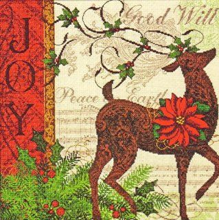 Cross Stitch Kit Winter Reindeer Dimensions Gold Collection