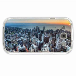 Custom Made Samsung GALAXY S3/III City  Tower Skyscraper Chicago Usa Hdr Of Romantic Present Transparent Case Cover For Guys: Cell Phones & Accessories