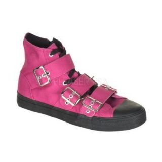 Previously Sold but brand new, Canvas 3 Buckle Strap High Top Sneaker Hot Pink Canvas (Men's Sizing) Mens Size: 10 ONLY (U.S.): Fashion Sneakers: Shoes