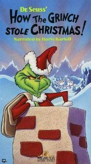 Dr. Seuss' How The Grinch Stole Christmas! (Animated, 1966, Narrated by Boris Karloff) [VHS Video]: Thurl Ravenscroft, Hans Conried, June Foray, Chuck Jones, Ben Washam, Dr. Seuss, Boris Karloff, but the Grinch who lived just north of Who ville did NOT