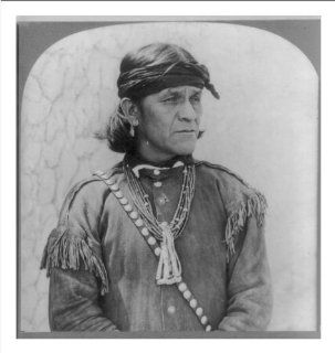 Historic Print (M): [A male Hopi Indian, wearing a head band, an earring, necklaces and probably a buckskin