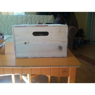 "Wooden Pine Box with Hand Holes and a Loose Lid. 15"" x 12"" x 7"" tall Outside   Decorative Boxes"