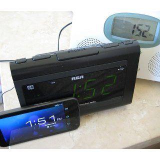 RCA RC142 Large Display Clock Radio with USB Charging Electronics