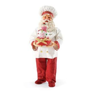 Department 56 Possible Dreams Santas Jolly Ol' Baker Santa Figurine, 11 Inch   Holiday Figurines