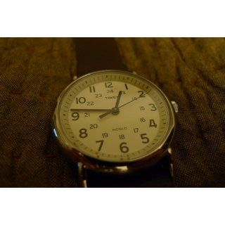 "Timex Unisex T2N893 ""Weekender"" Watch with Leather Band: Timex: Watches"
