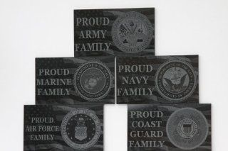 Black Marble Engraved Military Family Plaque Army Navy Air Force Marines Coast Guard   Decorative Plaques