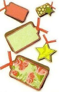 1/4 Sheet ~ Christmas Present Tags ~ Edible Image Cake/Cupcake Topper!!! : Dessert Decorating Cake Toppers : Grocery & Gourmet Food