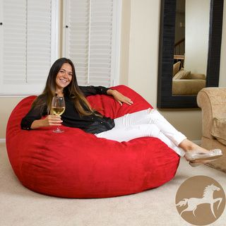 Christopher Knight Madison Faux Suede 5 foot Bean Bag Christopher Knight Home Bean & Lounge Bags