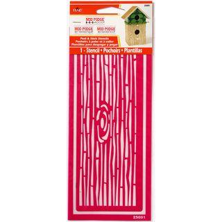 Mod Podge Peel & Stick Stencil Wood Grain Decorative Stencils