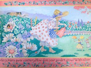 Mary Quite Contrary Border   Wallpaper Borders