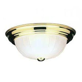 Livex Lighting 7111 02 Flush Mount with Frosted Melon Glass Shades, Polished Brass   Flush Mount Ceiling Light Fixtures