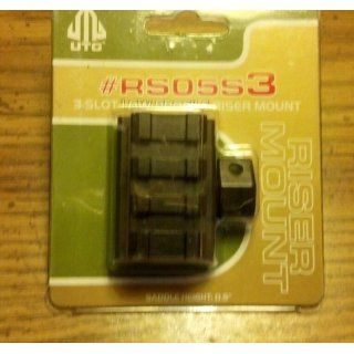UTG Low Profile Riser Mount with 3 slots  Airsoft Mounts  Sports & Outdoors