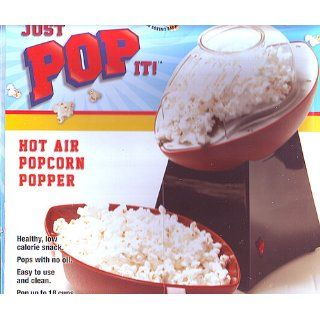 Just Pop It Hot Air Popcorn Popper Football: Sports & Outdoors