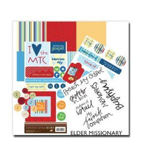 Scrapbooking kit   Perfect for making scrapbook pages for your missionary, Perfectly designed paper, Stickers Epoxy sticker and regular stickers, embellishments, Everything you need to make an awesome page for your LDS missionary, Keep the memories alive,