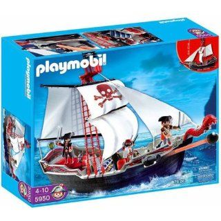 Playmobil Pirates Set #5950 Skull Bones Pirate Ship: Toys & Games