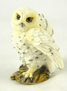 "Hedwig Snowy White Owl Statues 2.5"" Mini Owl Figurine Figure Open Wings   Collectible Figurines"