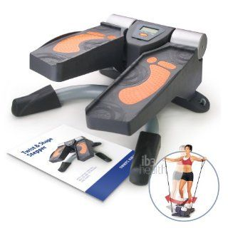 Twist away those extra inches. Shape and tone your muscles. This lateral thigh trainer is an improvement to our popular air stepper. It is a 27 lb metal whole body exerciser to support 250lb users. With the unique left to right pivoting motions, it has an