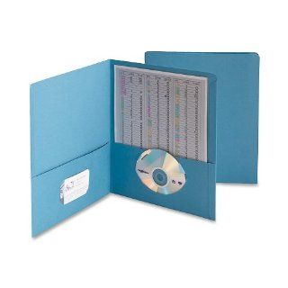 Smead Two Pocket Folder, Letter Size, Blue, 25 Per Box (87852) : Office Filing Supplies : Office Products