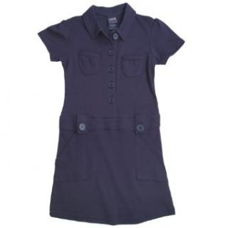 French Toast School Uniforms Button Down Interlock Dress Girls Navy 5: Clothing